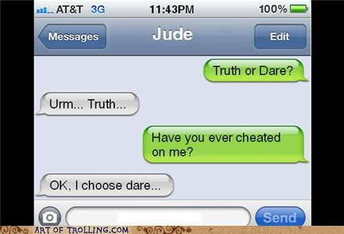cheating,ouch,truth or dare