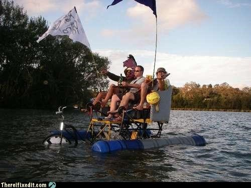 bicycle boat Mad Science Monday wtf