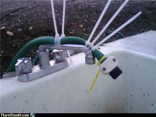 hose,plumbing,sink,zip tie