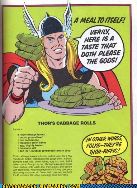 cabbage food meal Random Heroics recipe The Thing Thor - 4990119936