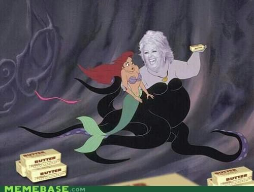 butter,little mermaid,paula-deen-yall,under the sea,ursula