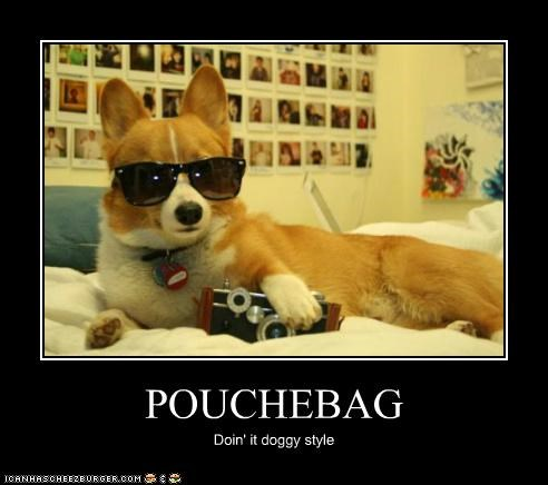 POUCHEBAG Doin' it doggy style
