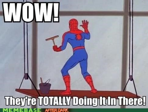sexytimes,Spider-Man,Super-Lols,window washer