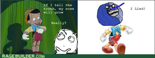 grow i lied nose pinocchio Rage Comics truth - 4990483968