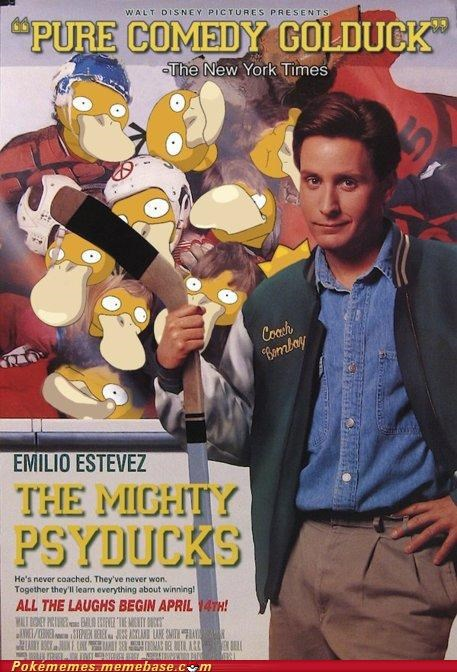 golduck michael j fox Mighty Ducks movie poster Psyduck - 4990520832