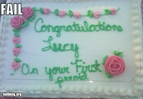 cakes failboat food Hall of Fame lady business menstruation - 4990543616