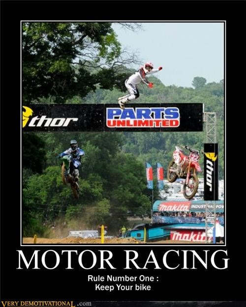hilarious motorcycles racing rules - 4990598144