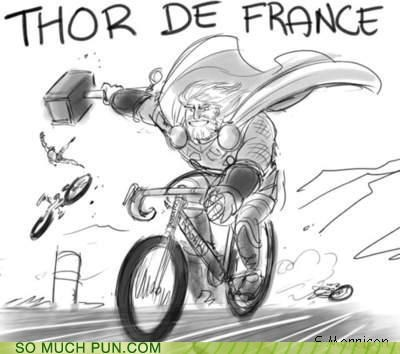bicycle,bike,biking,france,Hall of Fame,literalism,race,racing,similar sounding,Thor,tour,tour de france