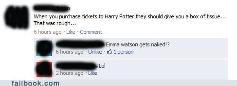 emma watson Harry Potter lol tissues witty reply - 4991041536