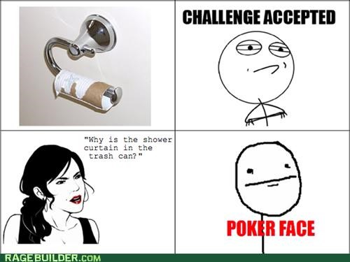 Challenge Accepted gross poker face pooptimes Rage Comics toilet paper - 4991137792