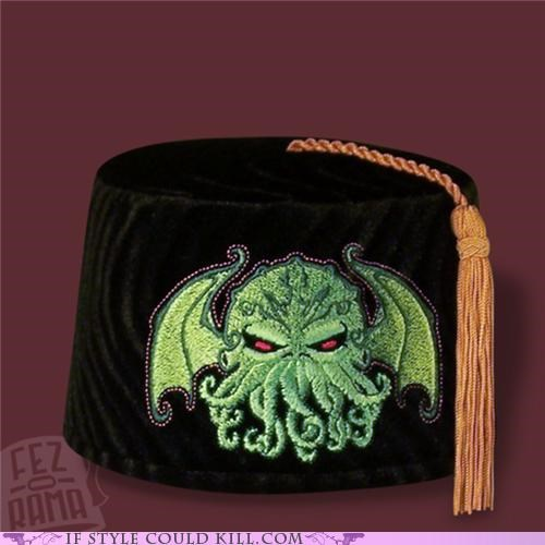 cool accessories cthulu FEZ hats - 4991514368