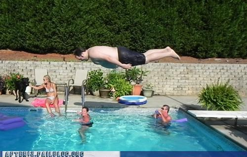 belly flop Planking pool - 4991532032