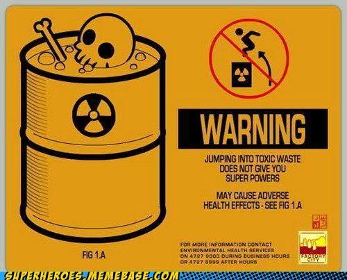 Random Heroics sing super powers toxic waste warning - 4991948032