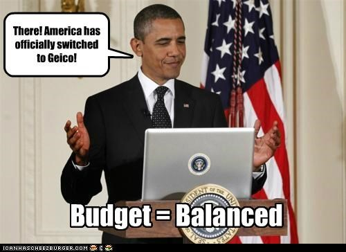 There! America has officially switched to Geico! Budget = Balanced