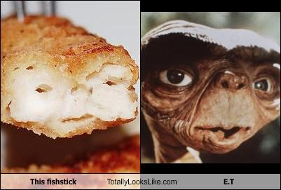 Aliens E.T fishtick food movies