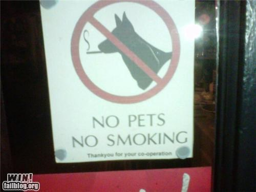 no smoking pets sign warning - 4993236736