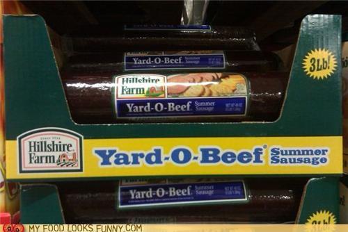 Beef,meat,sausage,summer sausage,yard
