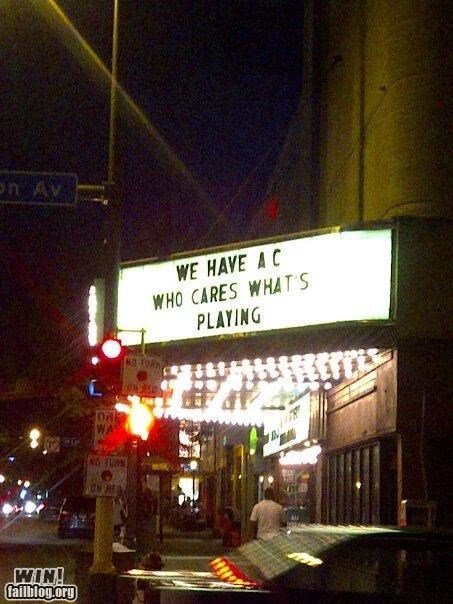 heat wave,marquee,movie theater,sign
