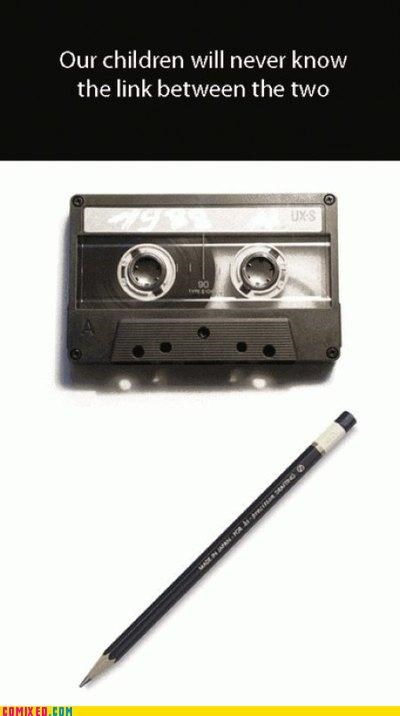 casette oldschool pencil rewind the internets - 4994045440