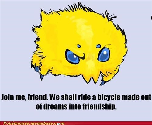 bicycle,dreams,friendship,joltik