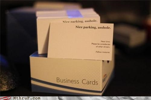 business cards driving parking