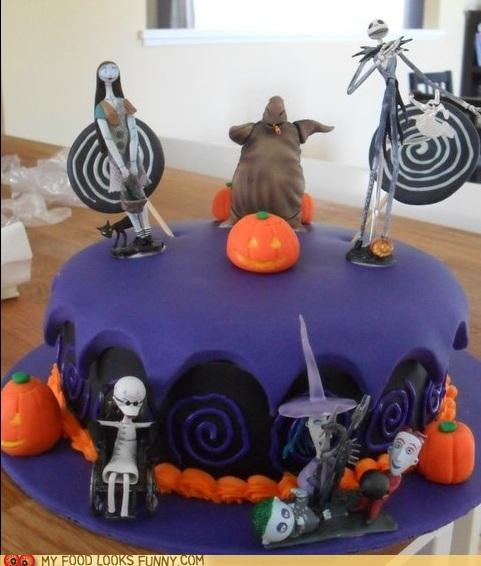 cake,fondant,nightmare before christma,plastic,purple,toys