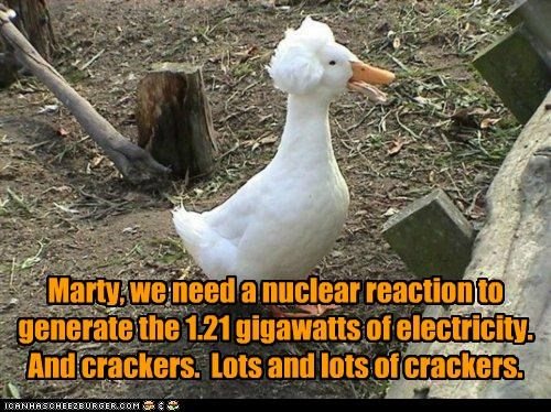 back to the future birds caption captioned crackers goose hair marty - 4994593280