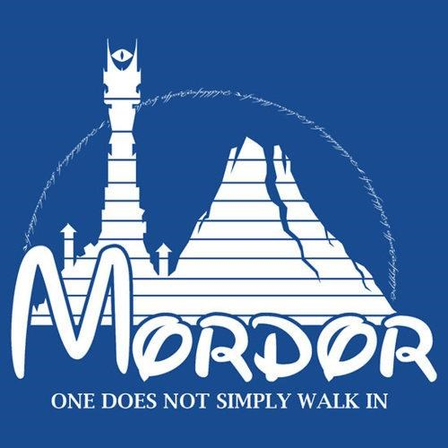 books,disney,Lord of the Rings,merch,mordor,movies,T.Shirt