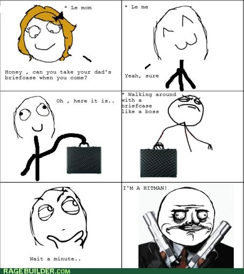 briefcase dad hitman Like a Boss Rage Comics - 4994678272