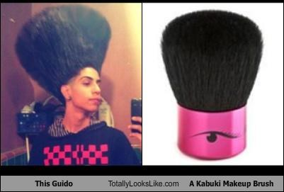 guido hairstyle kabuki brush makeup ugly hair