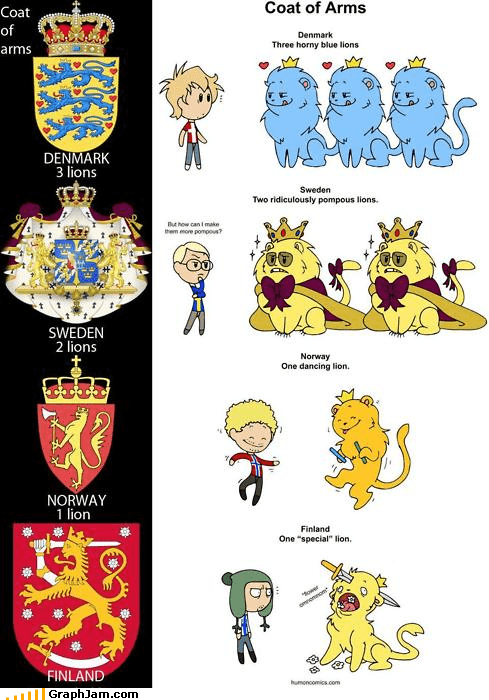 coat of arms,cute,lions