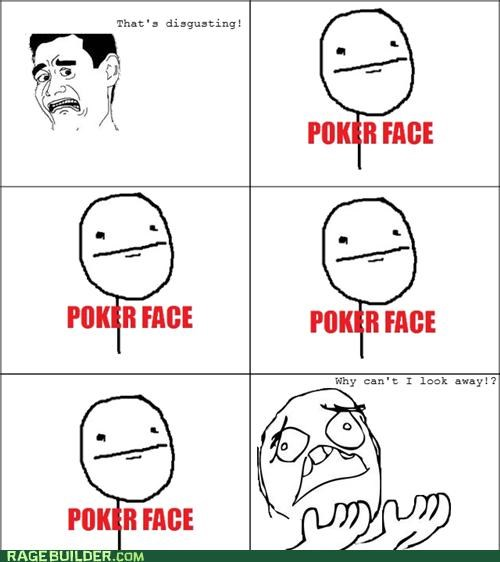 disgusting look away poker face Rage Comics - 4994775808