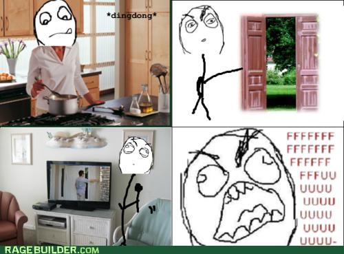 annoying,doorbell,fu guy,Rage Comics,sounds,television