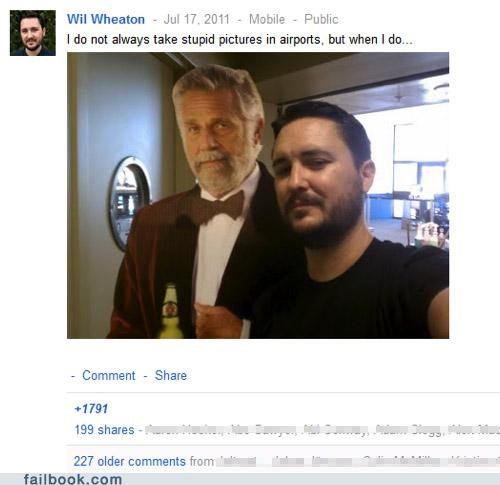 google meme most interesting man picture wil wheaton