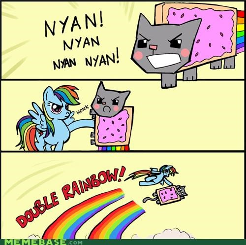 all the way comics double rainbow Nyan Cat rainbow dash X Grab My Y - 4994932480