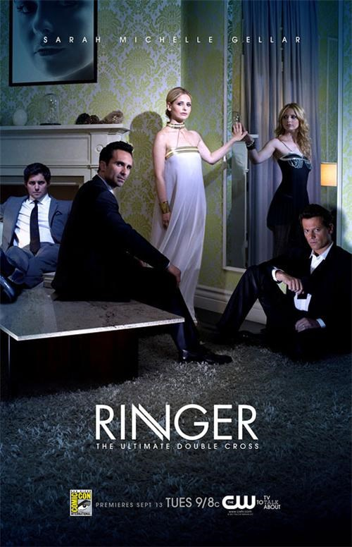 comic con,posters,Ringer,Sarah Michelle Gellar,tv shows