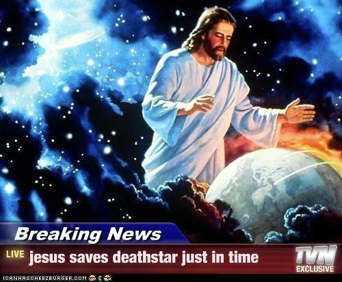 art color funny jesus religion star wars - 4995063296