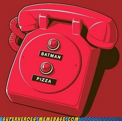 batman pizza Random Heroics red phone wtf - 4995124224