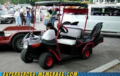 bat-cart batman golf cart Superhero IRL - 4995128832