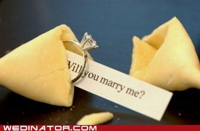 fortune cookie funny wedding photos proposal ring - 4995151104