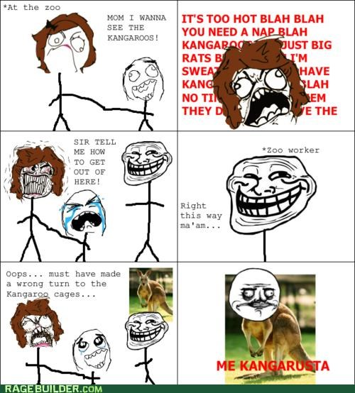 kangaroos mom Rage Comics troll win zoo - 4995298816