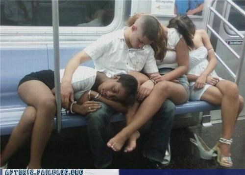 good night,passed out,train