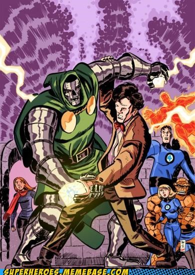 Awesome Art doctor who dr doom fantastic 4