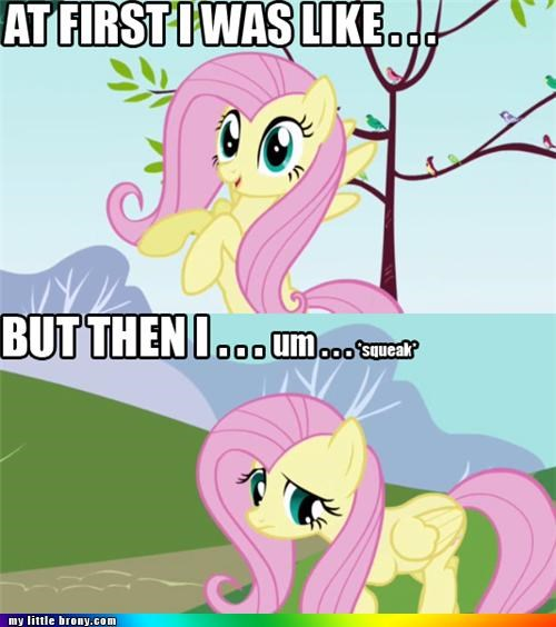 at first i was like fluttershy quiet squeak - 4995393536