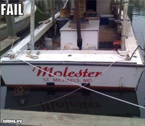 boat failboat inappropriate innuendo name pedobear