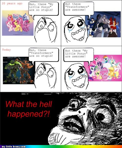 childhood ponies Rage Comics transformers - 4995468032