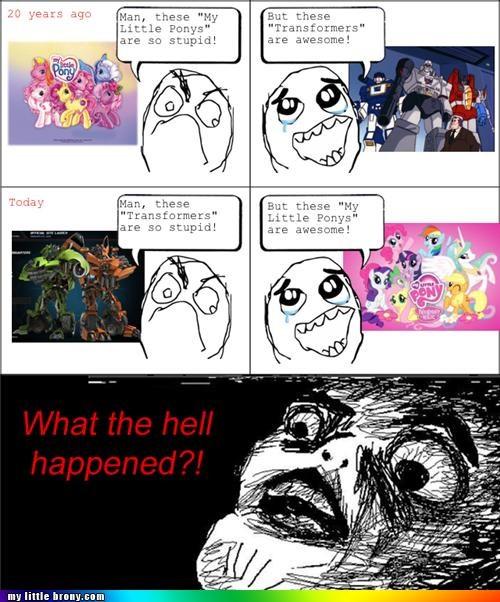 childhood ponies Rage Comics transformers - 4995468032