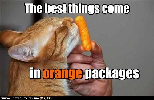 Teh orange wuns are poizin?? It's a lie, I tell ya'! A LIE!!