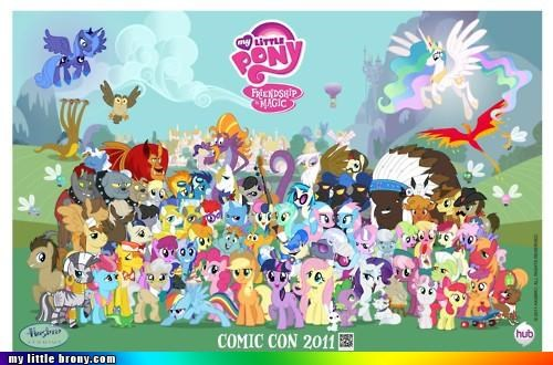comicon my little pony poster SDCC special edition - 4996245504
