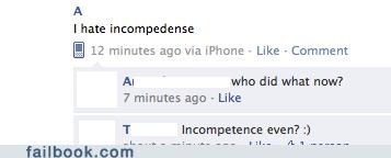 incompetence,spelling